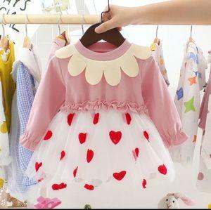 Toddler Girls Heart Shaped Printed Tutu Dress 2/3